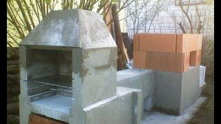 Коптильня, холодное и горячее копчение -  Smokehouse(Строительство коптильни из блоков для холодного и горячего копчения., 2015-05-22T20:52:04.000Z)