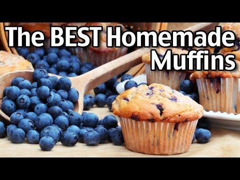 Easy Homemade Muffins! Plain Muffins, Blueberry Muffins And More!