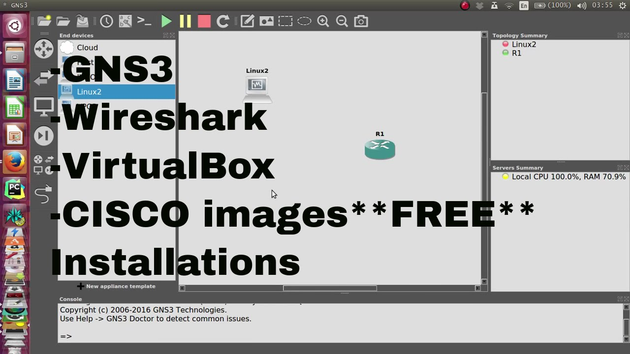 GNS3 [Installing GNS3WorkBench + Wireshark + VirtualBox + Latest GNS3Server  & GUI]