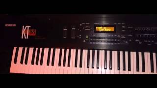 playing around on the Ensoniq KT-88 classic workstation synthesizer