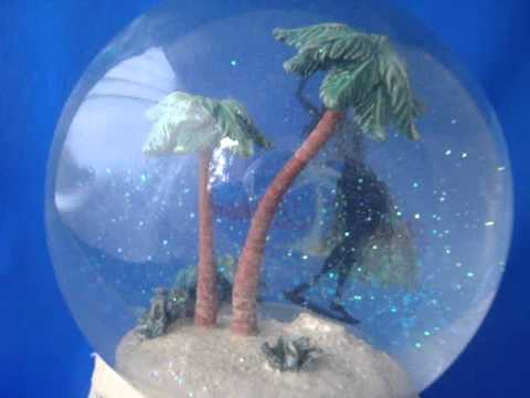 Tommy Bahama water globe music box