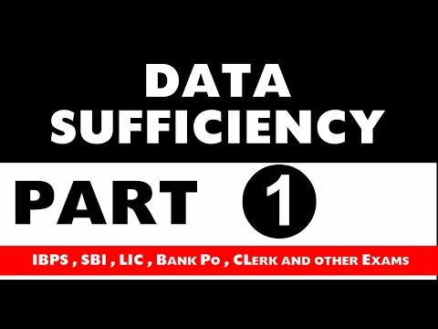 Data Sufficiency part 1 For SBI PO , IBPS and Other exams