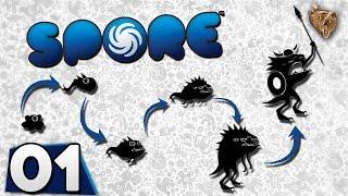 """Spore #01 """"A amoeba que vai cobrir a galáxia"""" - Gameplay Português Vamos Jogar PT-BR"""