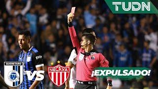 ¡Luis Romo se va expulsado!   Querétaro 2 - 0 Necaxa   Liga Mx - AP 19 - Cuartos de final   TUDN