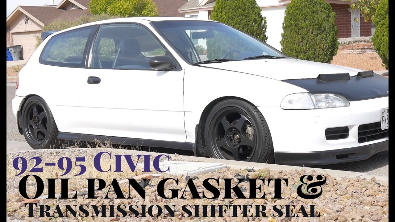 How To Replace Oil Pan Gasket Transmission Shift Selector Seal 1992 Honda Prelude Oils Civic Integra