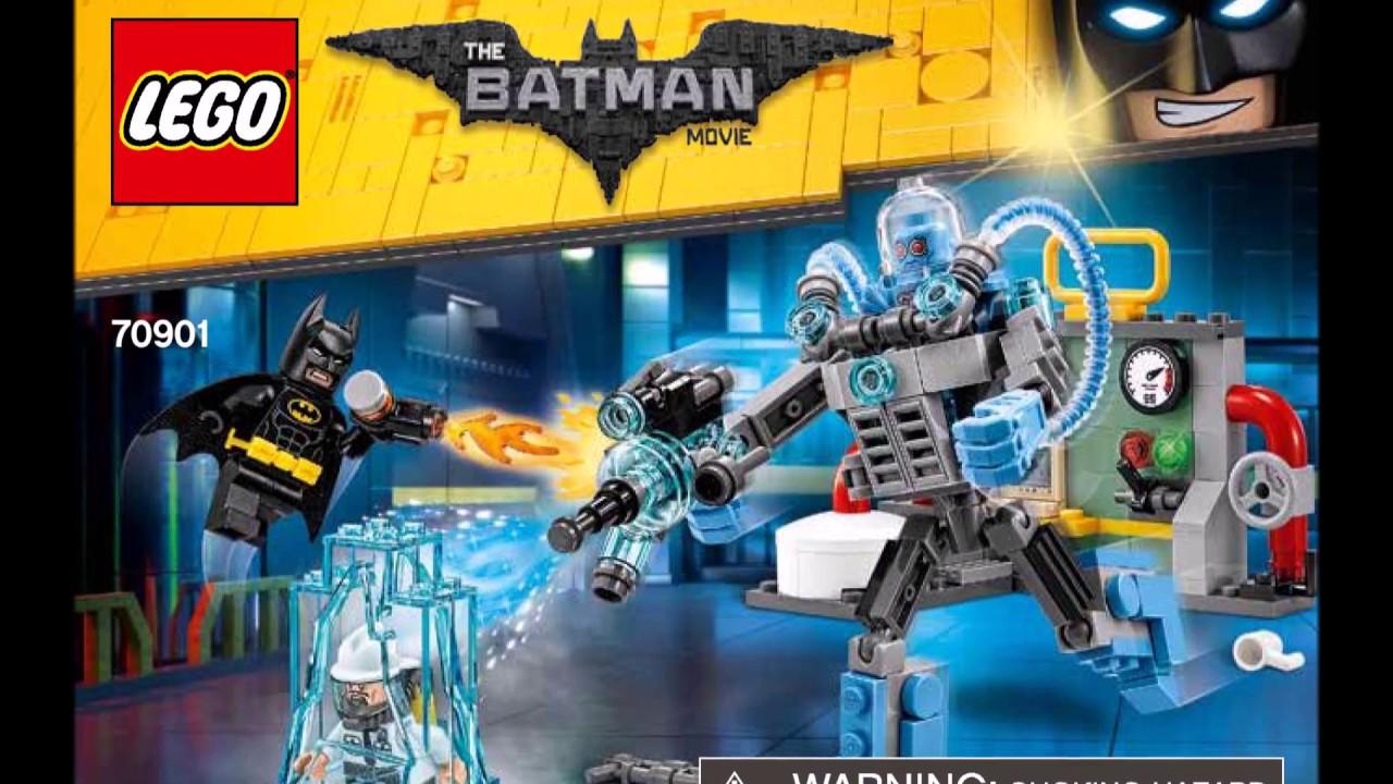 lego batman movie mr freeze ice attack 70901 instructions