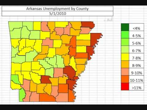 Map: Arkansas Unemployment November 2013