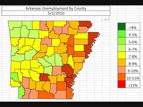 Map: Arkansas Unemployment November 2013