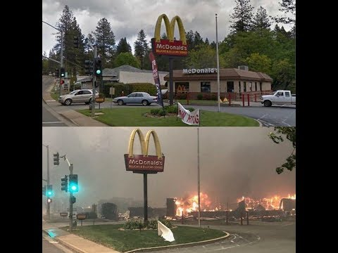 Harrowing Before & After Shots of Paradise, CA After The Camp Fire
