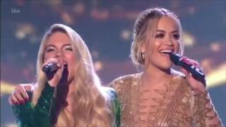 Rita Ora and Louisa Johnson peforms 'I Am Telling'
