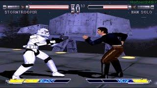Star Wars Masters of Teras Kasi PS1 (Stormtrooper) Part 1 Arcade Mode HD