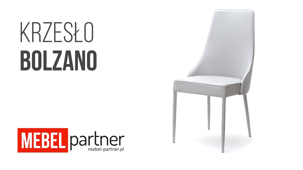 Nowoczesne Krzesło Tapicerowane Ekoskórą Bolzano Popiel