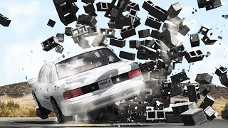 BRICK WALLS CRASHES BeamNG Drive