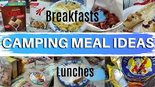 Breakfast and Lunch Ideas - Camping Edition