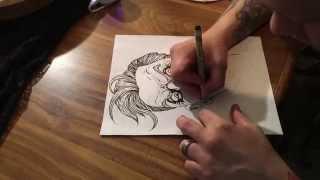 The Joker - Line Art - Timelapse - Drawing