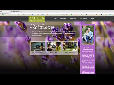 doTERRA - How to Customize and Update your Personal website