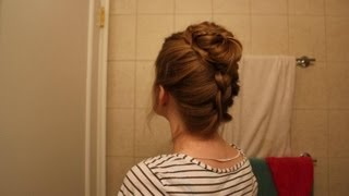 Upside Down Dutch Braid and TopKnot, Inspired by my BFF, Sabrina. XO