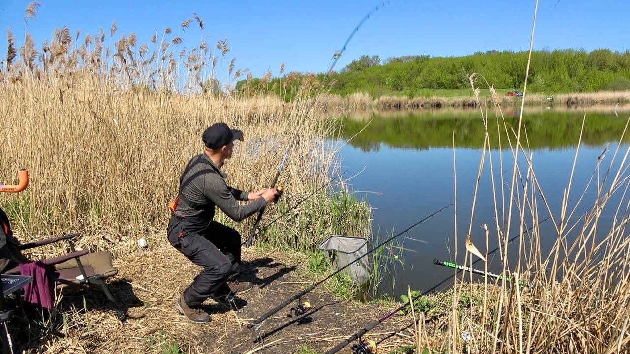 На Пуфики не клюёт? Ловля карася на пенотесто! Рыбалка на кормачки!