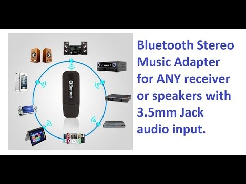 Stream Your Music Wirelessly At Home Via Bluetooth Adapter  5$ Solution!
