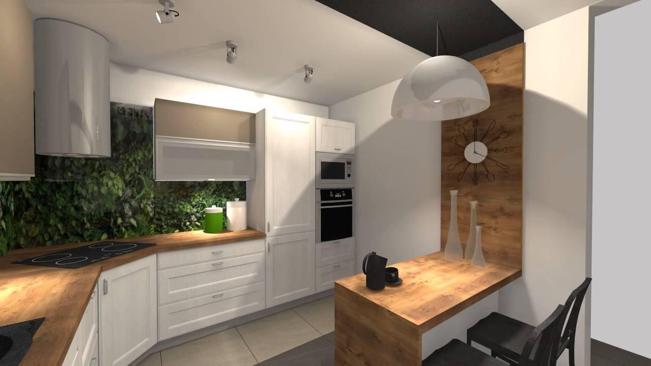 Jasna kuchnia storzona z mebli IKEA  YouTube -> Mala Kuchnia Aranżacje Wnetrz