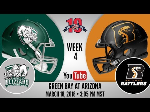 Week 4   Green Bay Blizzard at Arizona Rattlers