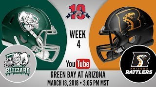 connectYoutube - Week 4 | Green Bay Blizzard at Arizona Rattlers