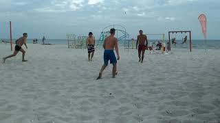 Мини футбол на пляже Кинбурн Украина Черное море mini soccer on beach black sea Kinburn Ukraine