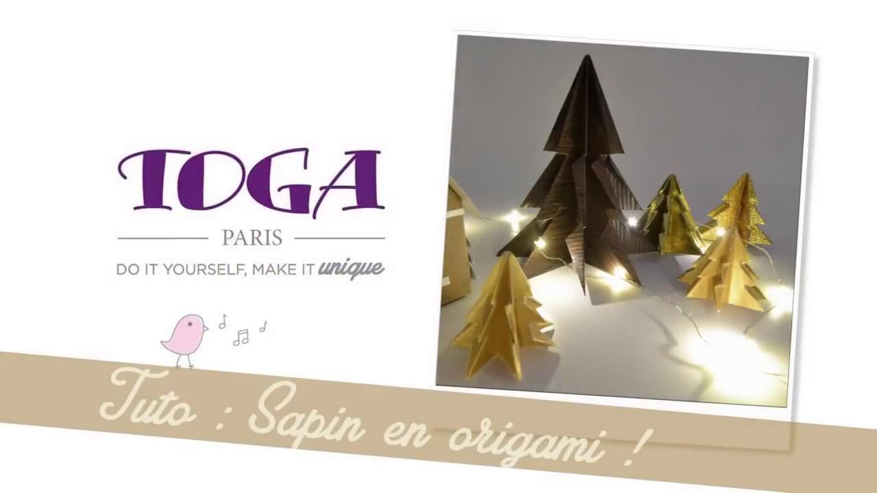 Diy no l joli sapin en origami par toga youtube - Sapin en origami ...