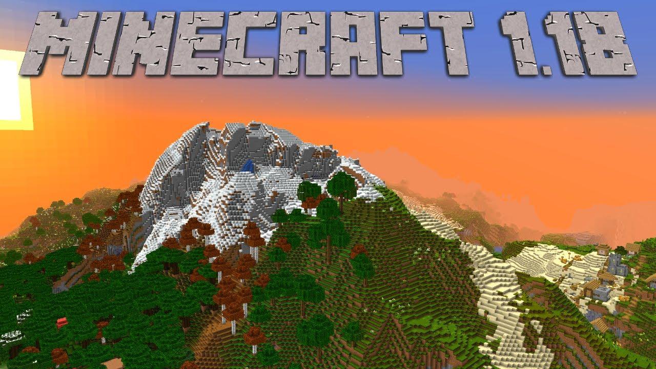Minecraft 1.18 is here | Stunning World Generation Deep Caves  High Mountains in Minecraft Survival