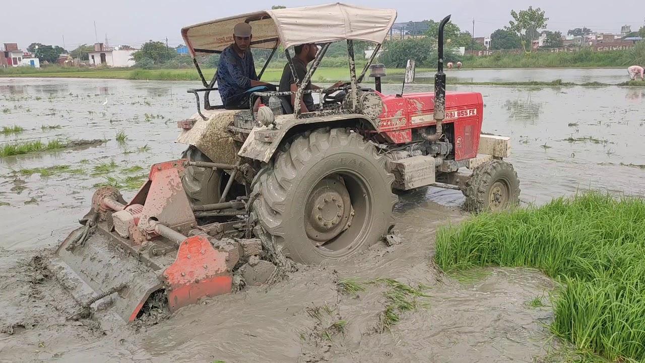 Swaraj 855 FE 5 स्टार 58 एचपी न्यू मॉडल padling with रोटावेटर बेस्ट परफॉर्मेंस