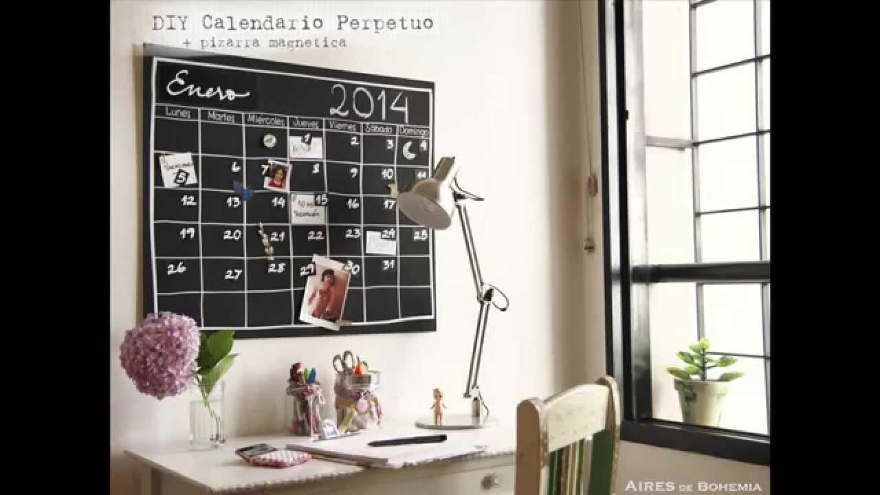 Diy calendario perpetuo en pizarra m gnetica youtube - Pizarra calendario ...