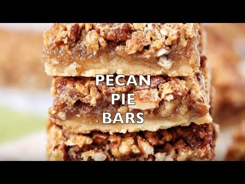 How To Make: Easy Southern Pecan Pie Bars With Shortbread Crust