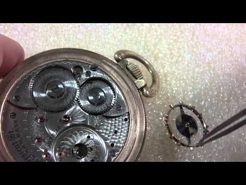 How I diagnose and install a missing roller jewel, Waltham Crescent St. pocket watch