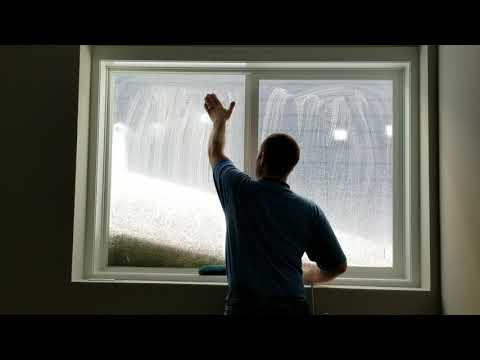 Construction Cleaning Tempered Windows