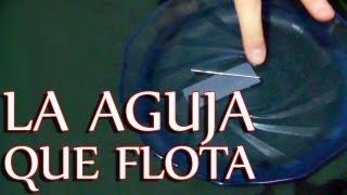 La aguja que flota en el agua. (La tensión superficial)
