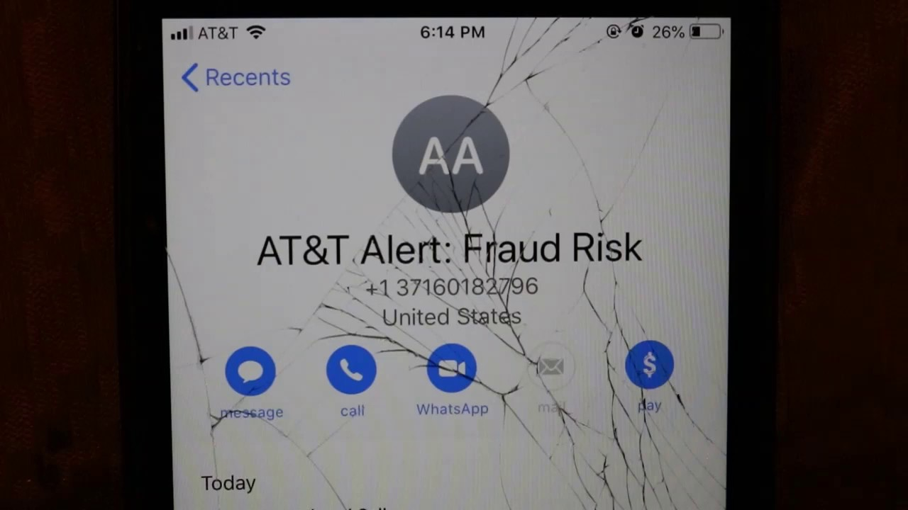 at&t alert spam risk
