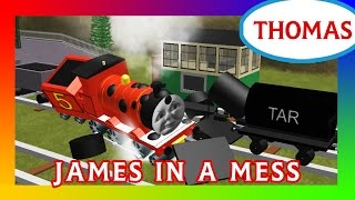 Dirty Objects / James In A Mess | Thomas and Friends Roblox Remake