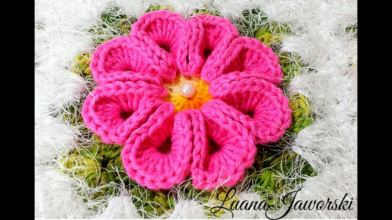 Flor Real Croch? Passo a Passo Luana Jaworski - YouTube