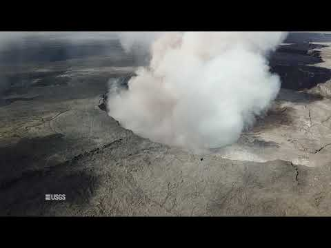 Kīlauea Volcano — Aerial of Kīlauea Summit Activity
