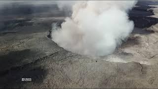 Kīlauea Volcano — Aerial of Kīlauea Summit Activity