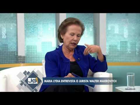 Maria Lydia entrevista o jurista Walter Maierovitch