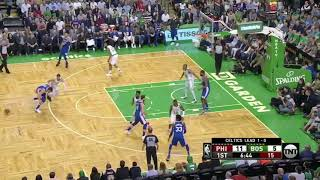 76ers blow a 22 point lead Ben Simmons 1pt and Jaylen Brown and the Celtics win 108-103 BOS 2-0