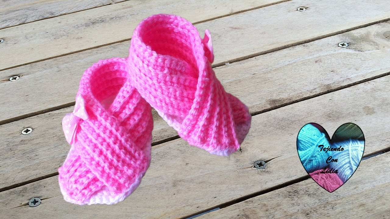Muy Crochet Sandalias Bebe A Cruzadas Tejidos Facil c5AqRjLS34