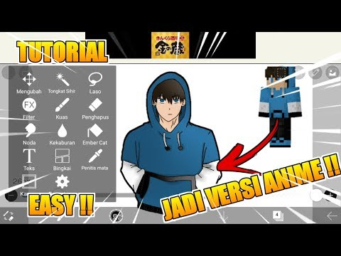 TUTORIAL CARA MEMBUAT FAN ART SKIN MINECRAFT KITA !!