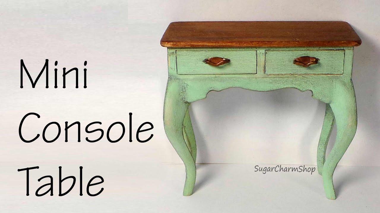 Miniature Console Table Tutorial Dolls Dollhouse Youtube