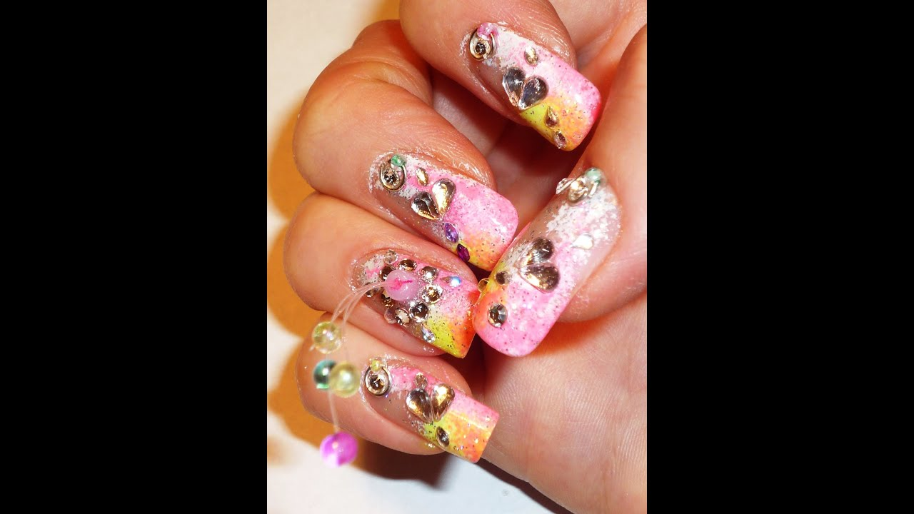 Date Night Nail Art - Love4nails Collaboration - YouTube