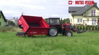 Przyczepa rolnicza jednoosiowa T703 METAL-FACH