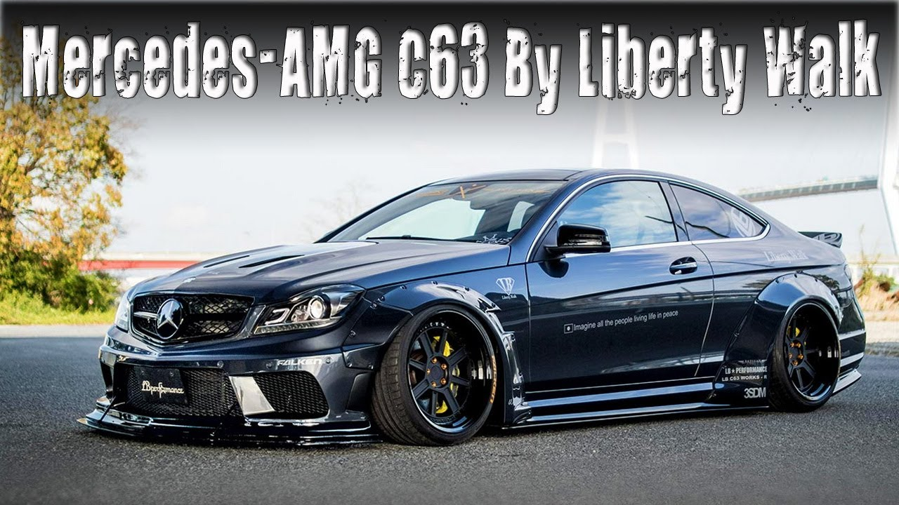 w204 mercedes amg c63 coupe tuned by liberty walk lb. Black Bedroom Furniture Sets. Home Design Ideas