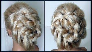 Красивые прически. Прическа из обычной косы. ЛЕГКО! Hairstyles.Hair from the usual braids. EASY!