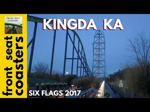 "Kingda Ka POV HD Front Seat On-Ride 2017 Six Flags Great Adventure ""World's Tallest Roller Coaster"""